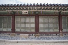 Gyeongbokgung, or the Palace of Felicitous Blessing. Was the main palace of the Joseon Dynasty in korea Royalty Free Stock Photos