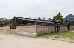Gyeongbokgung, or the Palace of Felicitous Blessing Stock Images