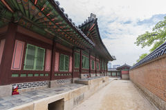 Gyeongbokgung, or the Palace of Felicitous Blessing. Was the main palace of the Joseon Dynasty in korea Royalty Free Stock Photography