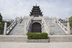 Gyeongbokgung, or the Palace of Felicitous Blessing Royalty Free Stock Image