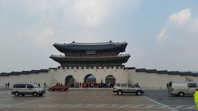 Gyeongbokgung palace. The front gate Stock Image