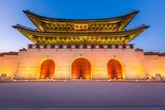 Gyeongbokgung Palace, front of Gwanghuamun gate in downtown Seou Royalty Free Stock Photos