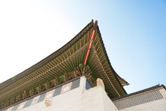 Gyeongbokgung palace gate at day time - Seoul, Republic of Korea Stock Photography