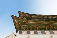 Gyeongbokgung palace gate in Seoul shot at day time - Republic o Royalty Free Stock Photo