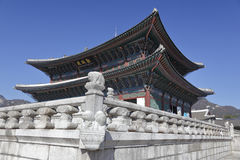 Gyeongbokgung Palace, Grand Palce Seoul, South Korea, Asia - shot November 2013 Royalty Free Stock Photography