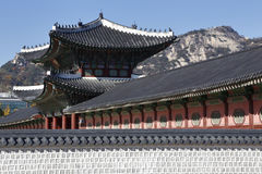 Gyeongbokgung Palace, Grand Palce Seoul, South Korea, Asia - shot November 2013 Royalty Free Stock Image