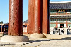 Gyeongbokgung Palace of the Joseon dynasty in Seoul, South Korea. Stock Images