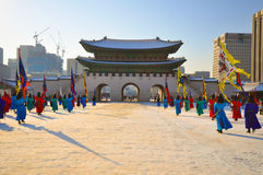 Gyeongbokgung palace in Korea. Gyeongbokgung Royal palace in South Korea Stock Photos