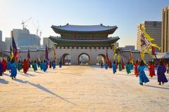 Gyeongbokgung palace in Korea Stock Photos