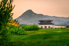 Gyeongbokgung Palace In Nature Royalty Free Stock Photos