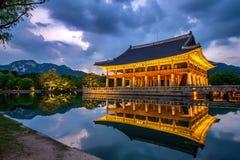 Gyeongbokgung Palace at night in Korea. Royalty Free Stock Photos