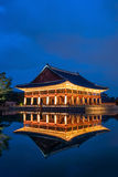 Gyeongbokgung Palace at night in Korea. Royalty Free Stock Images