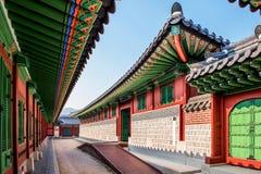 Gyeongbokgung Palace at night in Korea. Royalty Free Stock Photo