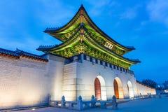 Gyeongbokgung palace at night in Seoul Korea. Stock Photo