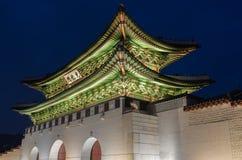 Gyeongbokgung Palace at Nigth in Seoul,South Korea Stock Photography