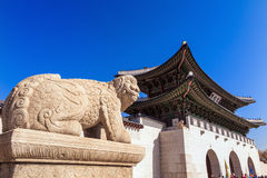 Gyeongbokgung palace in Seoul, Korea Royalty Free Stock Photo