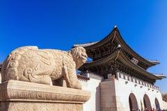 Gyeongbokgung palace in Seoul, Korea Royalty Free Stock Photo