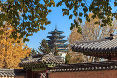 Gyeongbokgung palace in Seoul, Korea Stock Photo