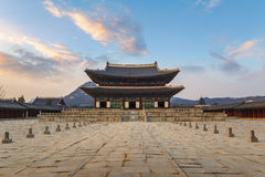 Gyeongbokgung Palace Seoul Korea. Gyeongbokgung Palace when sunset, Seoul, South Korea royalty free stock image