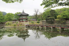 Gyeongbokgung Palace in Seoul. Gyeongbokgung Palace, located in Seoul, South Korea. Gyeongbokgung, also known as Gyeongbokgung Palace or Gyeongbok Palace, was Royalty Free Stock Photo