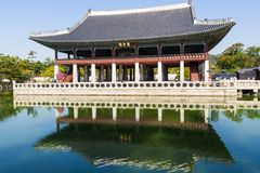 Gyeongbokgung palace. Seoul, South Korea. Royalty Free Stock Photography