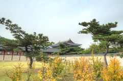 Gyeongbokgung Palace, Seoul, South Korea. Known as the Palace of Felicitous Blessing, Gyeongbokgung was the main palace during the Joseon Dynasty, built in 1394 Stock Photos