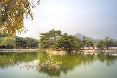 Gyeongbokgung Palace, Seoul, South Korea. Known as the Palace of Felicitous Blessing, Gyeongbokgung was the main palace during the Joseon Dynasty, built in 1394 Royalty Free Stock Photography