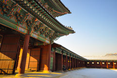 Gyeongbokgung palace. In South Korea Royalty Free Stock Images