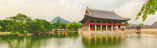 Gyeongbokgung Palace. South Korea. Panorama Stock Photos