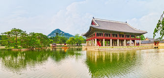 Gyeongbokgung Palace. South Korea. Panorama Stock Photo