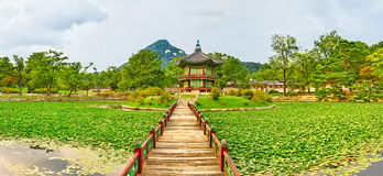 Gyeongbokgung Palace. South Korea. Panorama Royalty Free Stock Image