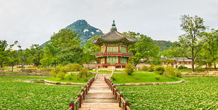 Gyeongbokgung Palace. South Korea. Panorama Stock Image