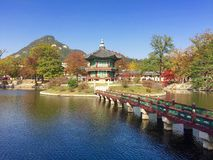 Gyeongbokgung palace in South Korea Royalty Free Stock Photo