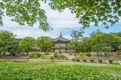 Gyeongbokgung Palace in spring Korea. Stock Photos