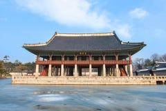 Gyeongbokgung palace in winter,Korea. stock photography