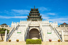 Gyeongbokgung slott i Seoul, Korea Royaltyfri Foto