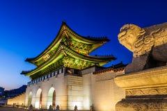 Gyeongbokgung slott Korea Fotografering för Bildbyråer
