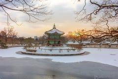Gyeongbokgung slott Seoul, Sydkorea arkivfoton