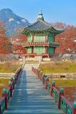 Gyeongbokgung slott, Seoul, Sydkorea Royaltyfria Bilder