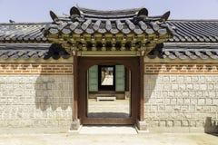 Gyeongbokgung slottbefästning Arkivfoto