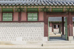 Gyeongbokgung Wall Pattern Royalty Free Stock Photos