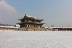 Gyeongbokgungpaleis op blauwe hemelachtergrond in het Zuiden van Seoel Royalty-vrije Stock Afbeelding