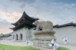 Gyeongbokgungs-Palast in Seoul, Südkorea lizenzfreies stockfoto