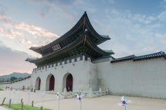 Gyeongbokgungs-Palast in Seoul, Südkorea lizenzfreies stockbild