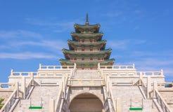 Gyeongbokgungs-Palast in Seoul, Südkorea lizenzfreie stockfotos