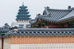 Gyeongbokgungs-Palast in Seoul, Südkorea Stockbild