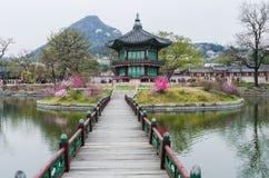 Gyeongbokgungs-Palast in Seoul, Südkorea Stockfotos