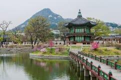 Gyeongbokgungs-Palast in Seoul, Südkorea lizenzfreie stockfotografie