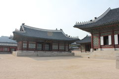 gyeongbokgungslott seoul Arkivfoto