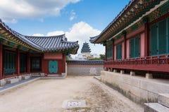 gyeongbokgungslott seoul Royaltyfria Bilder